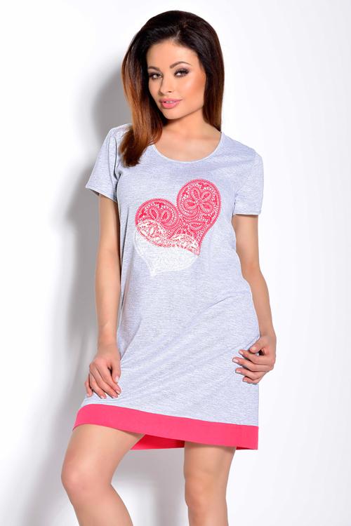 15df8935a1d7 TARO VIVA nočná košeľa - sivá